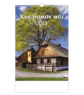 Nástěnný kalendář Kde domov můj... 2018