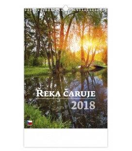 Nástěnný kalendář Řeka čaruje 2018