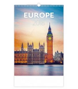 Nástěnný kalendář Europe 2018