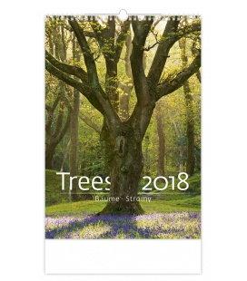 Nástěnný kalendář Stromy - Trees 2018
