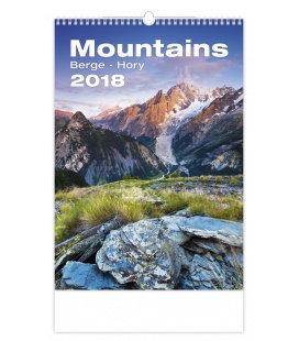 Nástěnný kalendář Hory - Mountains 2018