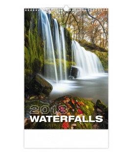 Nástěnný kalendář Waterfalls 2018