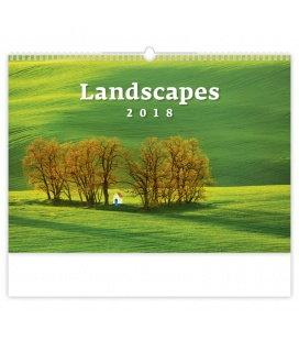 Nástěnný kalendář Landscapes 2018