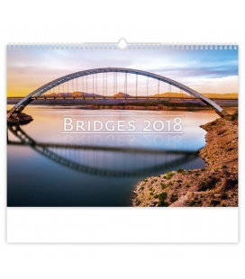 Nástěnný kalendář Bridges 2018