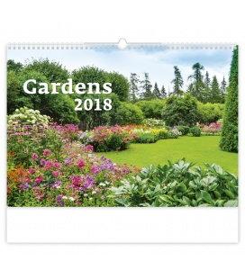 Nástěnný kalendář Gardens 2018