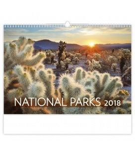 Nástěnný kalendář National Parks 2018