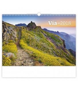Nástěnný kalendář Via 2018