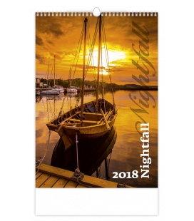 Nástěnný kalendář Nightfall 2018