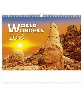 Nástěnný kalendář World Wonders 2018