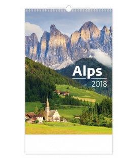 Nástěnný kalendář Alps 2018