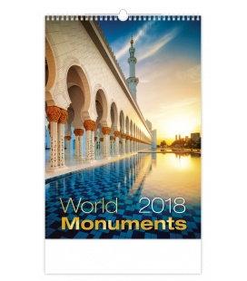 Nástěnný kalendář World Monuments 2018