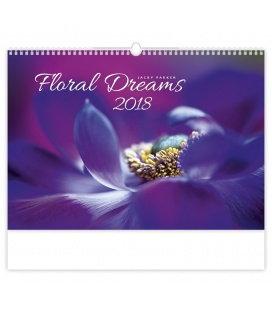 Nástěnný kalendář Floral Dreams 2018