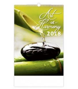 Nástěnný kalendář Art of Harmony 2018