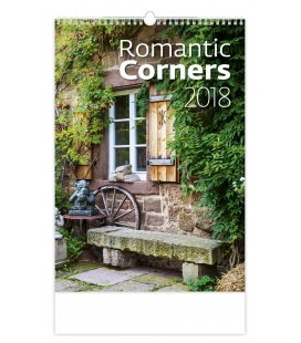 Nástěnný kalendář Romantic Corners 2018