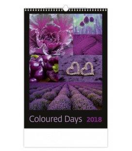 Nástěnný kalendář Coloured Days 2018