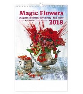 Nástěnný kalendář Živé květy - Magic Flowers 2018