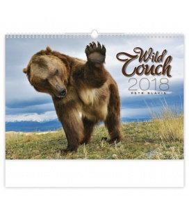 Nástěnný kalendář Wild Touch 2018