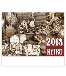 Nástěnný kalendář Retro 2018