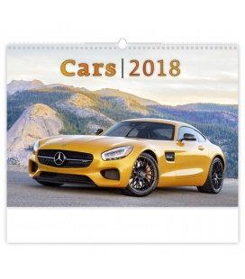 Nástěnný kalendář Cars 2018