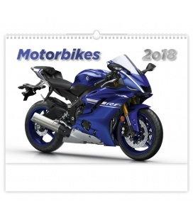 Nástěnný kalendář Motorbikes 2018