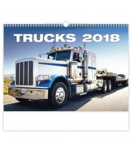 Nástěnný kalendář Trucks 2018