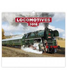 Nástěnný kalendář Locomotives 2018