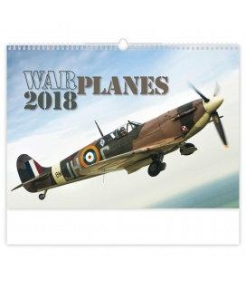 Nástěnný kalendář Warplanes 2018
