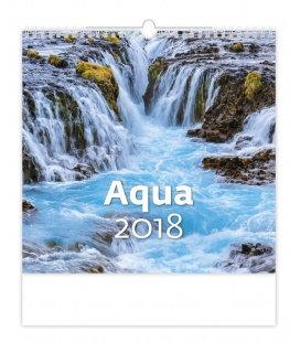 Nástěnný kalendář Aqua 2018