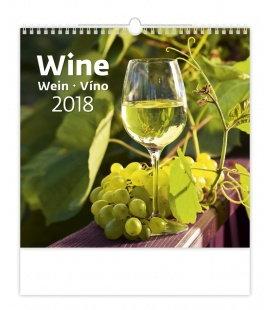 Nástěnný kalendář Víno - Wine 2018