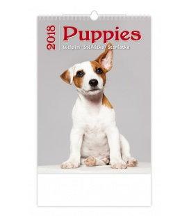 Nástěnný kalendář Štěňátka - Puppies 2018