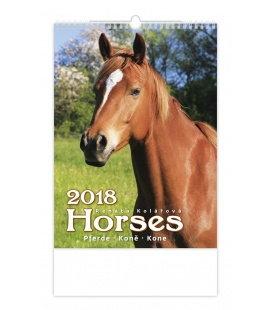 Nástěnný kalendář Koně - Horses 2018