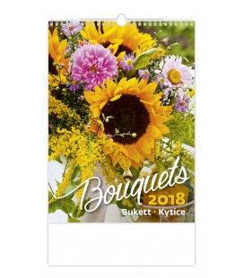 Nástěnný kalendář Kytice - Bouquets 2018