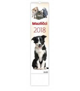 Nástěnný kalendář Mazlíčci 2018
