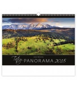 Nástěnný kalendář Tatry Panorama 2018