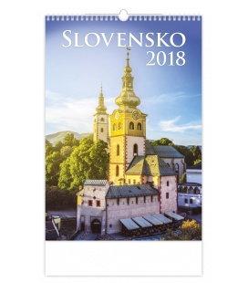 Nástěnný kalendář Slovensko 2018