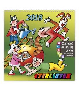 Nástěnný kalendář Čtyřlístek 2018