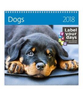 Nástěnný kalendář Dogs 2018