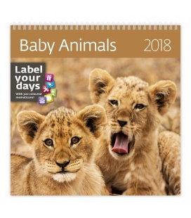 Nástěnný kalendář Baby Animals 2018