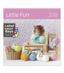 Nástěnný kalendář Little Fun 2018