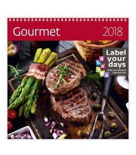 Nástěnný kalendář Gourmet 2018