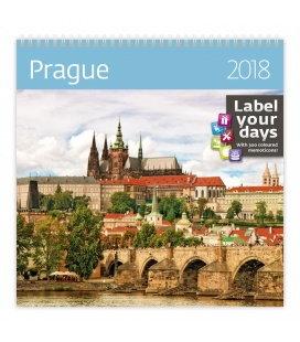 Nástěnný kalendář Prague 2018