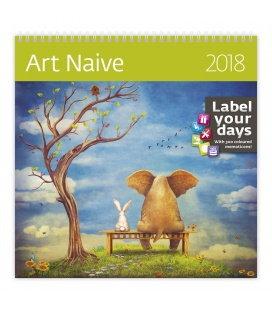 Nástěnný kalendář Art Naive 2018