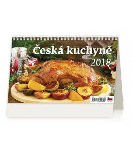 Stolní kalendář Česká kuchyně 2018