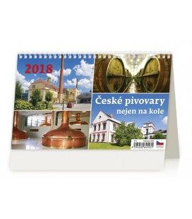 Stolní kalendář České pivovary nejen na kole 2018