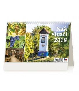 Tischkalender Naši vinaři 2018