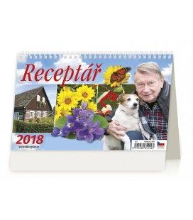 Stolní kalendář Receptář 2018