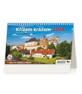 Stolní kalendář Křížem krážem Českou republikou 2018