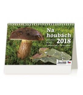 Stolní kalendář Na houbách 2018