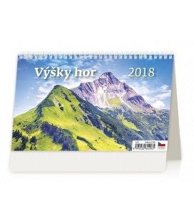 Stolní kalendář Výšky hor 2018
