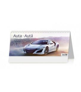 Stolní kalendář Auta/Autá 2018